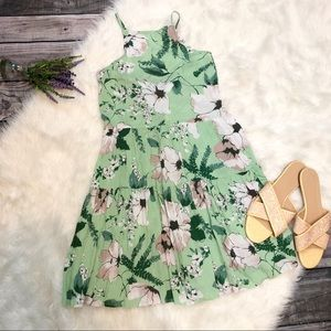 NEW Abercrombie & Fitch Green Floral Sundress